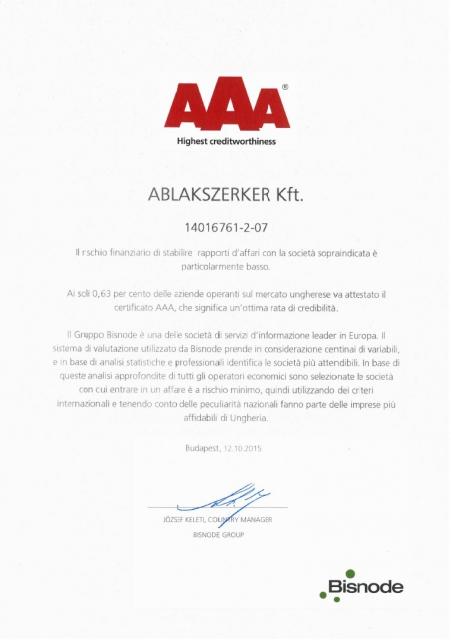 Bisnode Certificato